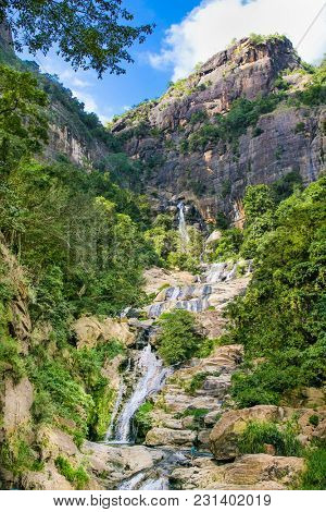Ravana Falls or Ravana Ella waterfalls is a popular sightseeing attraction near Ella Sri Lanka. Ravana Falls ranks as one of the widest falls in Sri Lanka.