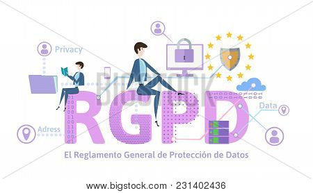 Rgpd, German Version Of Gdpr. General Data Protection Regulation. Concept Illustration. The Protecti
