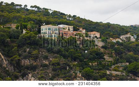 Colorful Massive Homes On A Villefranche Hillside