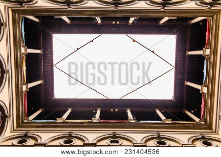 Skylight Through A Courtyard In A Florence Palace