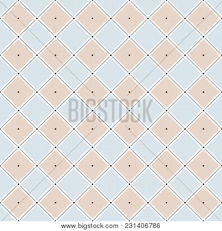 Vector Seamless Pattern. Modern Stylish Texture. Repeating Geometric Tiles With Rhombuses Made Of Li