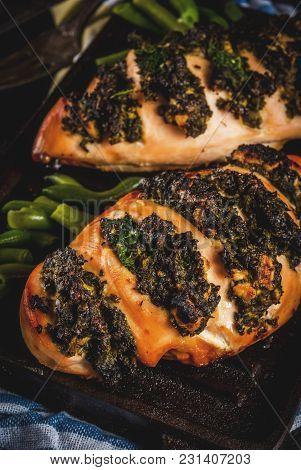 Pollo A Fisarmonica Con Ricotta E Spinaci