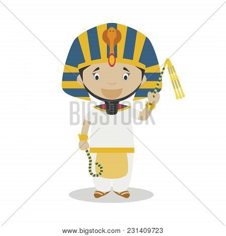 Ramses Ii The Great Cartoon Character. Vector Illustration. Kids History Collection.
