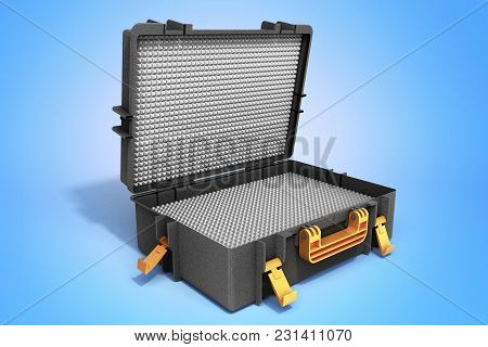 Open Tools Case 3d Render On Blue Background