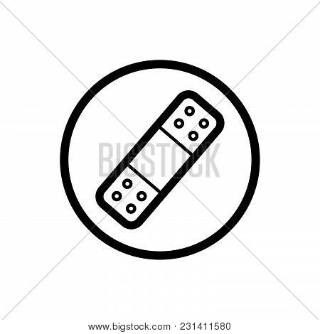 Band Aid Icon On A White Background. Vector Illustration