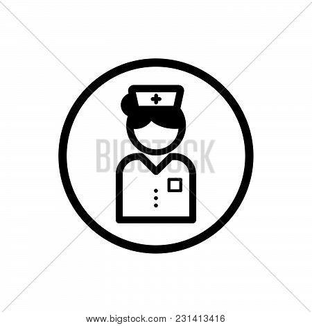 Nurse Icon On A White Background. Vector Illustration