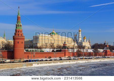 Moscow Kremlin On A Sunny Winter Morning
