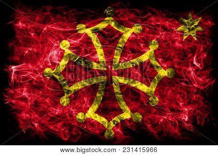 Occitania Smoke Flag, Dependent Territory Flag, Occitania Flag