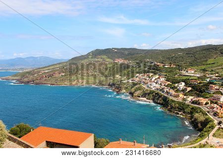 Sea Coast At Castelsardo On Sardinia, Italy