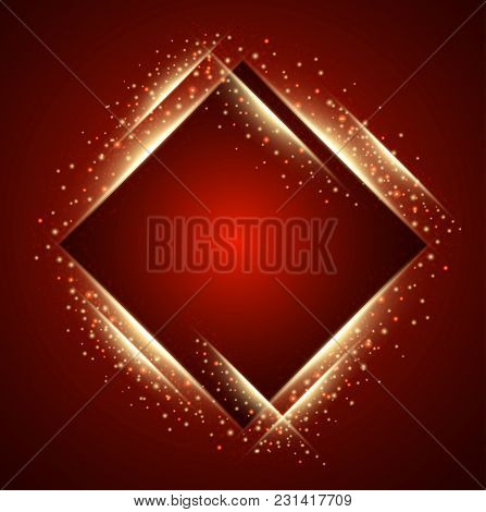 Abstract Red Squares Background. Creative  Vector Illustration