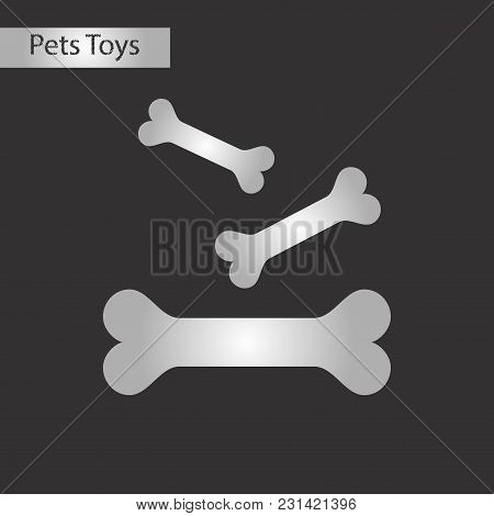 Black And White Style Icon Of Bones For Pets