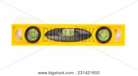 bubble spirit level isolated on white background