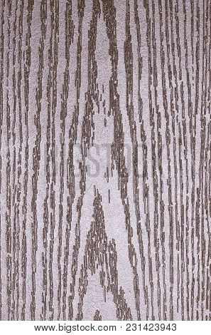 Artificial Wood Texture Painted Silver Color, Veneer.