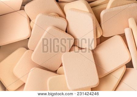 Foundation Powder Sponge. Cosmetic Sponge For Applying Or Removing Makeup