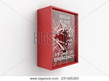 Break In Case Of Emergency Red Box