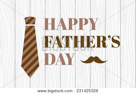 Happy Father's Day. Vector Banner