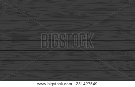 Vector Wooden Horizontal Planks Background. Dark Wood Texture