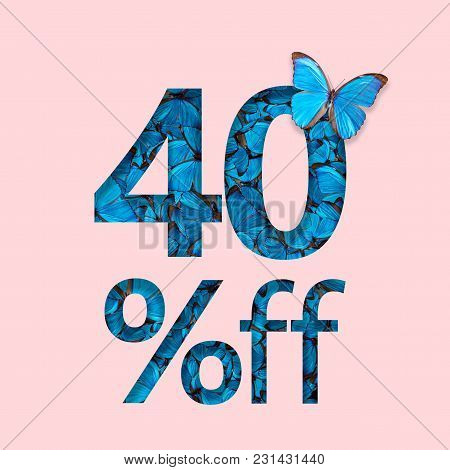 40% Discount Sale Promotion. The Concept Of Stylish Poster, Banner, Ads.