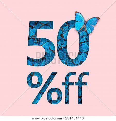 50% Discount Sale Promotion. The Concept Of Stylish Poster, Banner, Ads.
