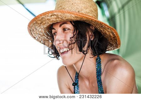 Portrait Of A Woman In A Hat.