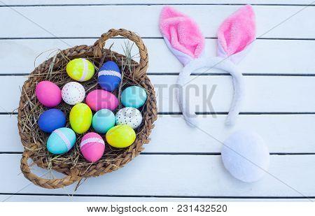 Easter Basket And Bunny Ears