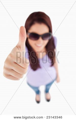 Smiling Woman With Sunglasses