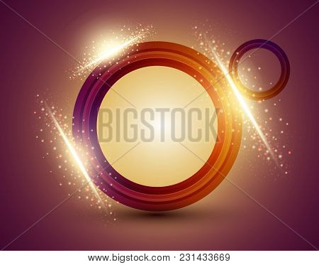 Abstract Background With Colored Lines And Sparcles. Vector