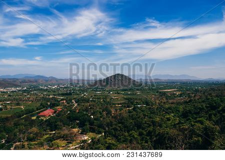 View From The Top Of Ta Cu Mountain In Phan Thiet In Vietnam