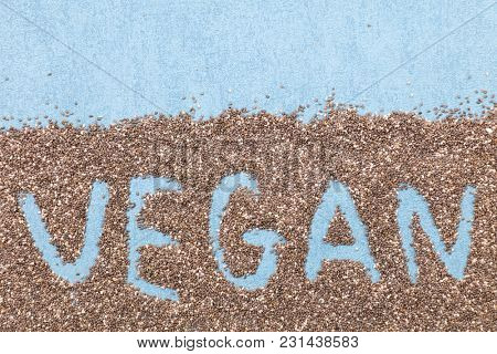 chia seed, vegan text