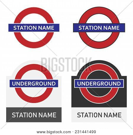Logo Of The London Underground Station In England