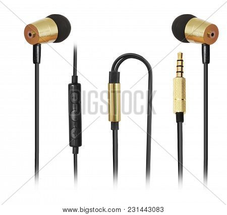 Perfect Black And Golden Combination Headphones Made With Cutting Edge Design Premium Sound With Mic