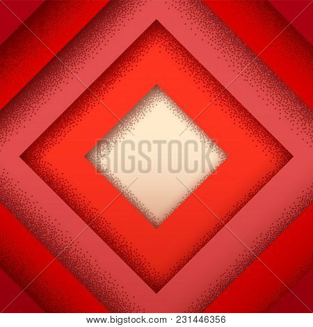 Abstract Background With Retro Styled Vintage Layers And Dotted Shadow