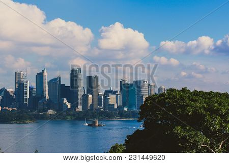Sydney, Australia - July 11th, 2013: Sydney Central Business District Shkyline Shot From Across The