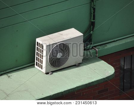 Air Conditioner Installed On The Outside Of A Building