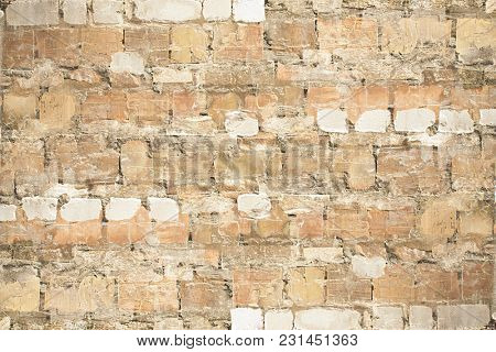 Old brick wall background for design