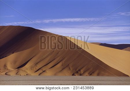 The Orange Dunes Of The Namib Desert