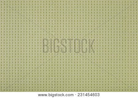 Abstract Light Green Background, Perforated Surface Of Expanded Polystyrene, Insulation Used In Cons