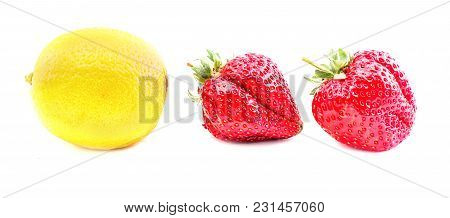 A Strawberry Isolated On The White Background
