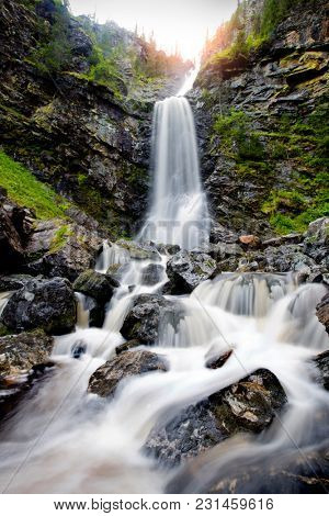 Waterfall in Sweden