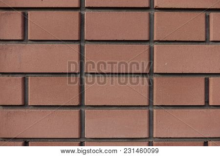 Wall Made Of New Orange Brown Bricks