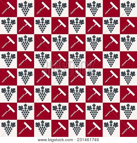 Creative And Simple Wine Pattern. Vector Background