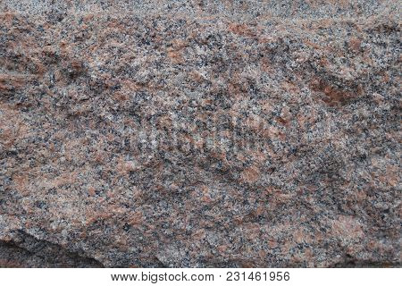 Deliberately Rough Surface Of Pink Granite Stone