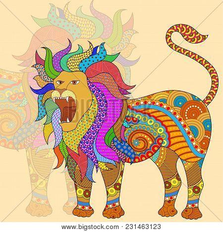Vector Illustration Of Leo Astrological Zodiac Sign