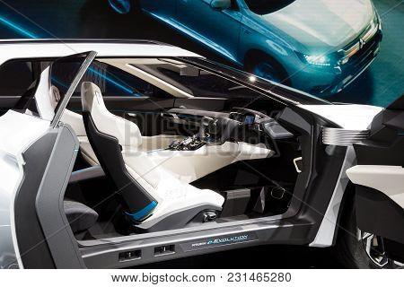 Geneva, Switzerland - March 7, 2018: Mitsubishi E-volution Electric Concept Car Presented At The 88t
