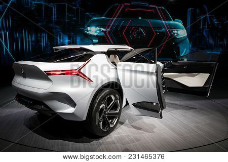 Geneva, Switzerland - March 7, 2018: Mitsubishi E-volution Electric Concept Car Presented At The 88t