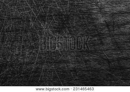 Monochrome Close-up Vintage Empty Cutting Board, Food Background Concept, Wooden Textured Surface.