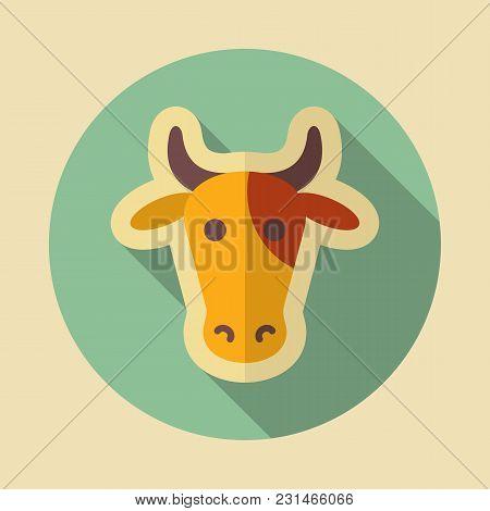 Cow Icon. Animal Head. Farm Sign. Graph Symbol For Your Web Site Design, Logo, App, Ui. Vector Illus
