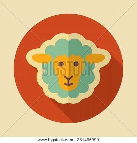 Sheep Icon. Animal Head. Farm Sign. Graph Symbol For Your Web Site Design, Logo, App, Ui. Vector Ill