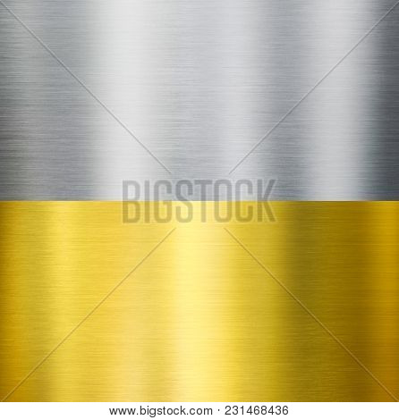 gold and silver metal brushed textures
