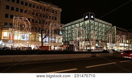 Potsdamer During Christmas In Berlin, Germany